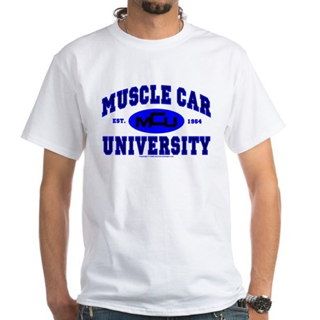 Muscle Car U White T-Shirt