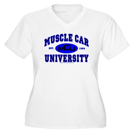 Muscle Car U Women's Plus Size V-Neck T-Shirt