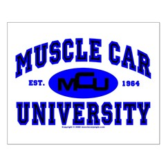 Muscle Car U Small Poster