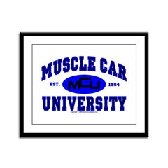 Muscle Car U Framed Panel Print