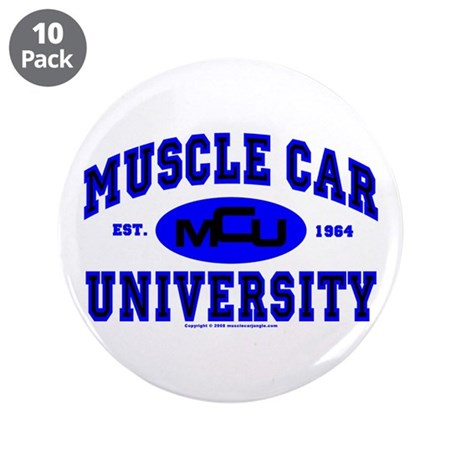 "Muscle Car U 3.5"" Button (10 pack)"