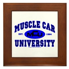 Muscle Car U Framed Tile