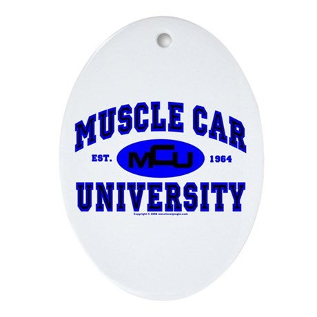 Muscle Car U Oval Ornament