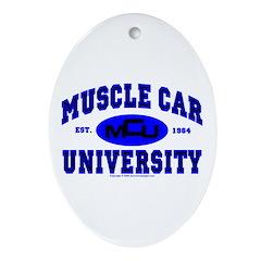 Muscle Car U Oval Ornament