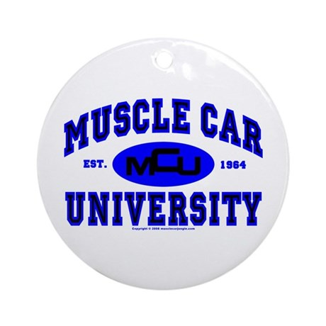 Muscle Car U Ornament (Round)