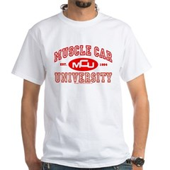Musclecar University III White T-Shirt
