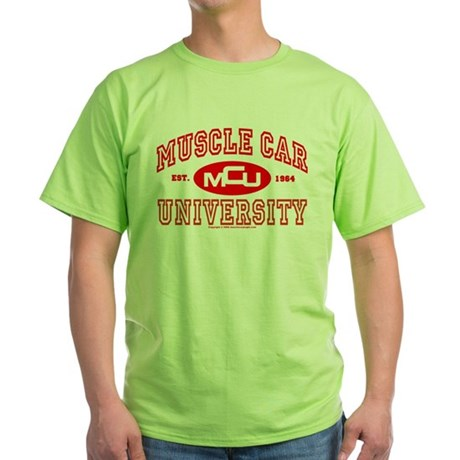Musclecar University III Green T-Shirt