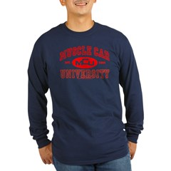 Musclecar University III Long Sleeve Dark T-Shirt