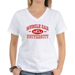 Musclecar University III Women's V-Neck T-Shirt