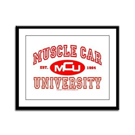 Musclecar University III Framed Panel Print