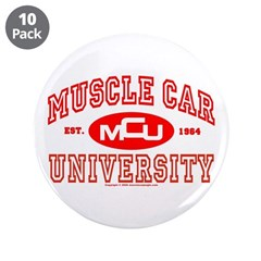 "Musclecar University III 3.5"" Button (10 pack)"