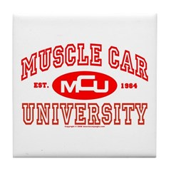 Musclecar University III Tile Coaster