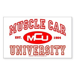 Musclecar University III Rectangle Sticker