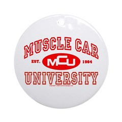 Musclecar University III Ornament (Round)