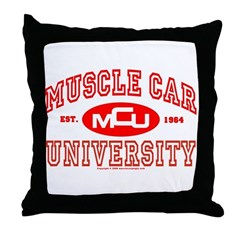 Musclecar University III Throw Pillow