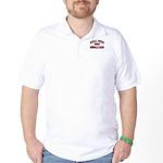 Real Men Drive Muscle Cars Golf Shirt w/ Back Logo