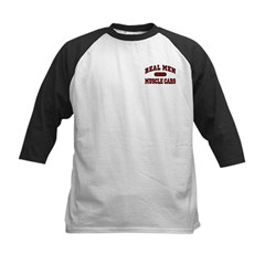 Real Men Drive Muscle Cars Kids Baseball Jersey