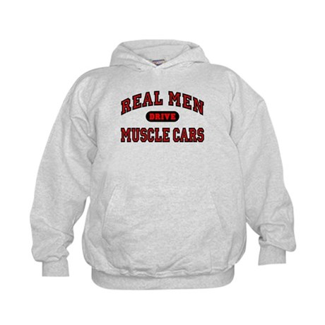 Real Men Drive Muscle Cars Kids Hoodie
