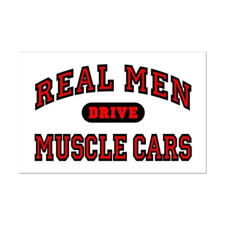 Real Men Drive Muscle Cars Mini Poster Print