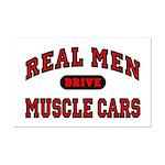 Real Men Drive Muscle Cars Mini Poster Print