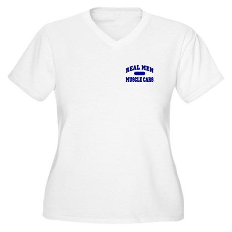 Real Men Drive...II Women's Plus Size V-Neck Tee