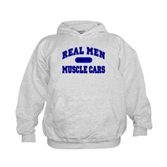 Real Men Drive Muscle Cars II Kids Hoodie