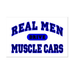 Real Men Drive Muscle Cars II Mini Poster Print