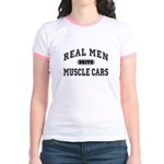 Real Men Drive Muscle Cars III Jr. Ringer T-Shirt