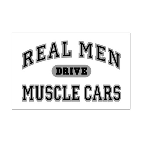 Real Men Drive Muscle Cars III Mini Poster Print