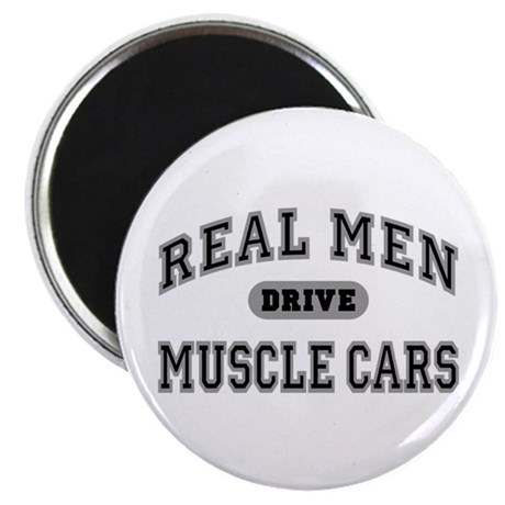 Real Men Drive Muscle Cars III 2.25 Magnet (10 pk)
