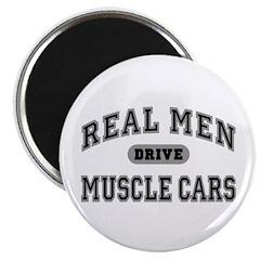 Real Men Drive Muscle Cars III 2.25 Magnet (10 pk)