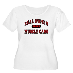 Real Women Drive... Women's Plus Size Scoop Neck T