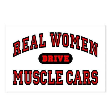 Real Women Drive Muscle Cars Postcards (Pack of 8)