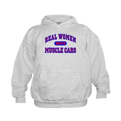 Real Women Drive Muscle Cars II Kids Hoodie