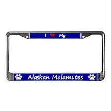 Blue I Love My Alaskan Malamutes Frame