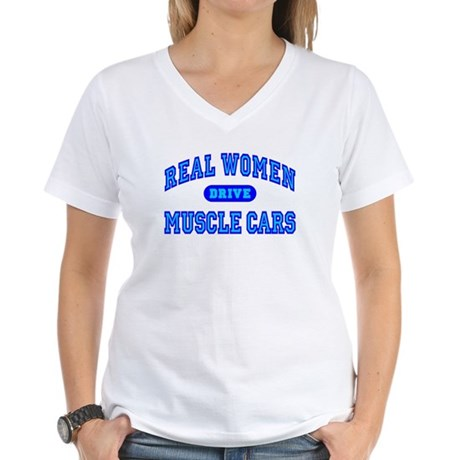 Real Women Drive...III Women's V-Neck T-Shirt