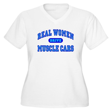 Real Women...III Women's Plus Size V-Neck T-Shirt