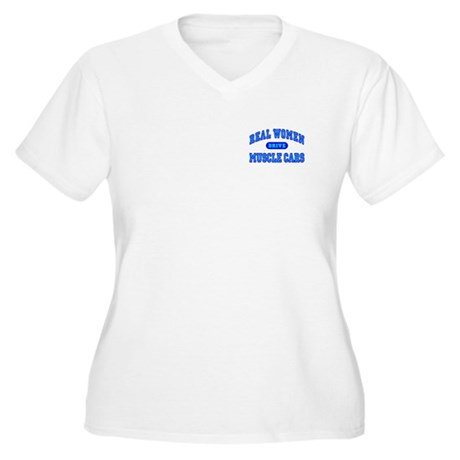 Real Women Drive...III Women's Plus Size V-Neck T