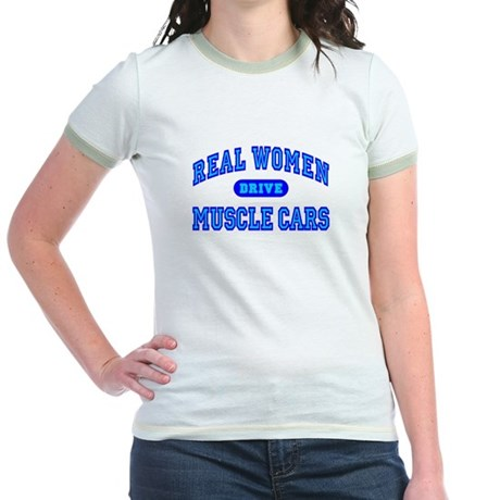 Real Women Drive...III Jr. Ringer T-Shirt