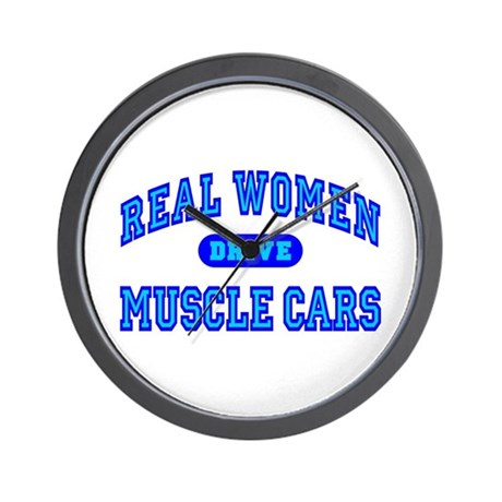 Real Women Drive Muscle Cars III Wall Clock