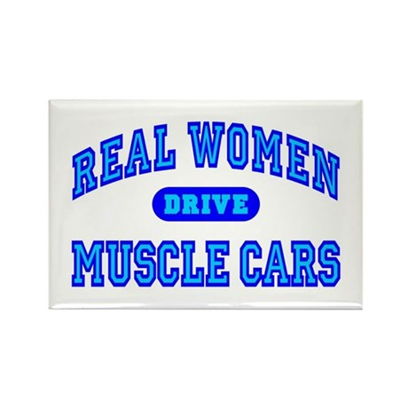 Real Women Drive Muscle Cars III Fridge Magnet