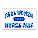 Real Women Drive...III Rectangle Sticker