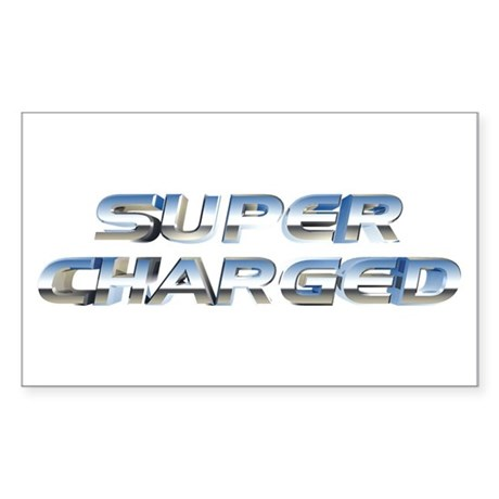 Super Charged Rectangle Sticker