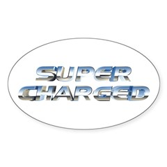 Super Charged Oval Sticker