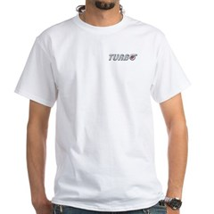 Turbo White T-Shirt with Back Logo