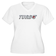 Turbo Women's Plus Size V-Neck T-Shirt