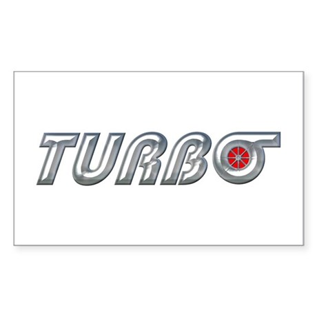 Turbo Rectangle Sticker