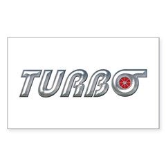 Turbo Rectangle Sticker