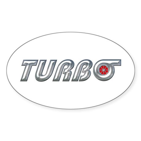 Turbo Oval Sticker