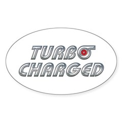 Turbo Charged Oval Sticker